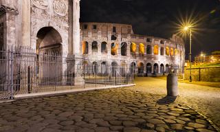 Altes römisches Straßenpflaster