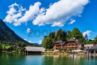 Blick auf den Königssee im Berchtesgadener Land