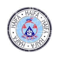 City of Haifa, Israel vector stamp