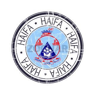 City of Haifa, Israel vector stamp