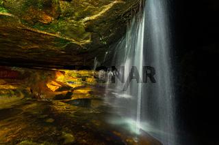 Cave waterfalls