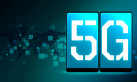 Screen phone with 5G network modern