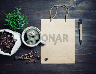 Kraft bag, coffee