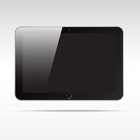 Realistic tablet isolated on light background