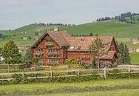 Bauernhaus, Landhaus bei Appenzell, Schweiz