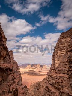 Rocks in Wadi Rum desert, Jordan, Middle East