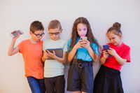 Kids and gadgets are best frieds in modern life