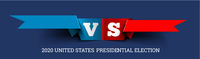 Presidential elections in the United States. Donald Trump vs. Joe Biden. Vector illustration