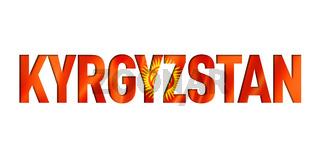 kyrgyzstan flag text font