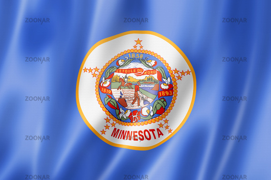 Minnesota flag, USA