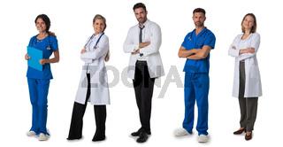 Full length portraits of doctors