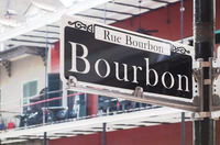Bourbon Street in New Orleans famous French Quarter