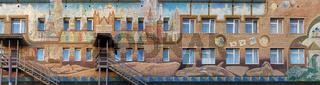 Schulgebäude in Barentsburg, Spitsbergen