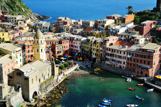 Traditional Mediterranean architecture of Vernazza