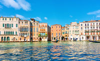Panoramic view of the Grand Canal in Venice