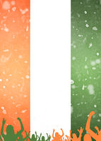 Ireland Celebration Motif Template Background