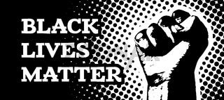 Black lives matter. Vector illustration with hand