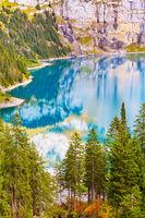 Oeschinensee lake, Swiss Alps, Switzerland