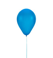 Blue balloon for birthday and celebrations isolated on white background