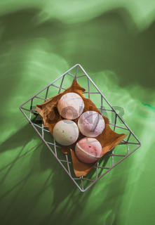 Wellness time with set of organic bath bombs