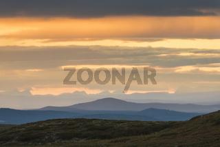 Blick vom Dundret Naturreservat ins Fjaell, Gaellivare, Lappland