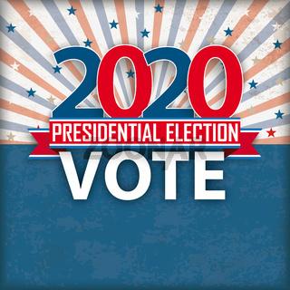 Presidential Election Vote Retro Sun