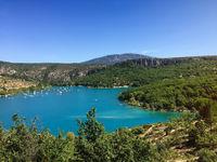 Sainte-Croix-du-Verdon Lake and landscape of Verdon, France