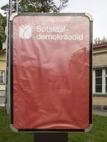 Empty red poster of Social Democrats