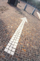 Cobblestone arrow white