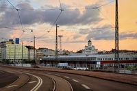 Sunrise View to Etelaranta, Helsinki, Finland