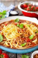 Linguine mit Sauce Bolognese