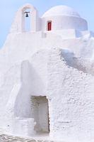 White Paraportiani Church, island Mykonos, Greece
