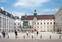 In der Burg courtyard of Hofburg palace complex, Vienna, Austria