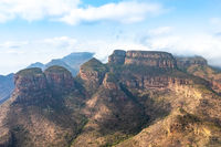 Blyde River Canyon and The Three Rondavels (Three Sisters) in Mpumalanga, South Africa.