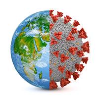 Symbiosis earth and coronavirus