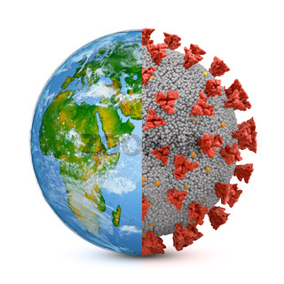 Symbiosis earth and coronavirus