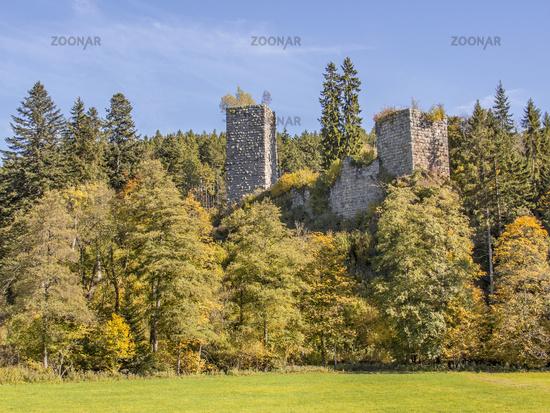 Burgruine Roggenbach Landkreis Waldshut, Südschwarzwald