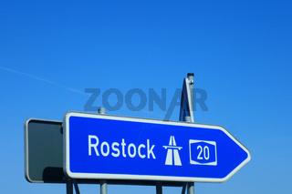 Autobahnauffahrt Rostock