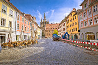 Ansbach. Old town of Ansbach picturesque square view