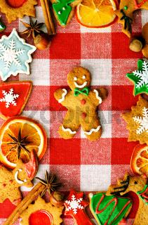Christmas gingerbread man cookie