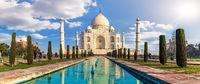 Taj Mahal in India, panoramic view, Agra, Uttar Pradesh