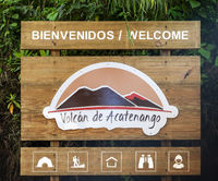 Acatenango Volcano Hiking Trail Sign