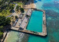Ruins of the Waikiki Natatorium War Memorial on Oahu, Hawaii