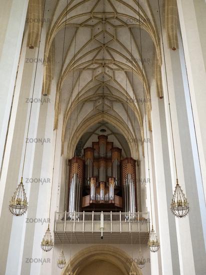 Frauenkirche - Gallery with Organ - Munich Cathedral Zu unserer Lieben Frau - View from Altar to Gallery with Organ