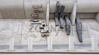 Kunst am Bau am Schottischen Parlament in Edinburgh