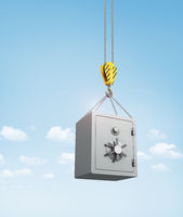 Metal safe on the hooks.