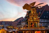 Weihnachtsmarkt Quedlinburg Harz Abendstimmung