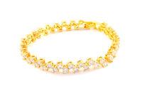 Diamond jewelry gold bangle