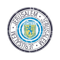 City of Jerusalem, Israel vector stamp