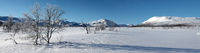 Winterpanorama im Skigebiet Hovden in Norwegen